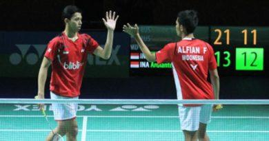 Final Beregu Putra Bulu Tangkis SEA Games, Indonesia 2-0 Malaysia